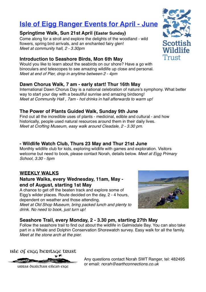 Scottish Wildlife Trust Summer Walks Programme