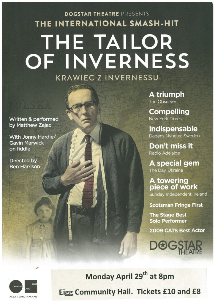The Tailor of Inverness comes to Eigg!